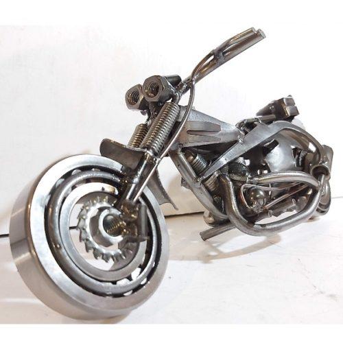 Sochy z kovu Jackob motorka choper detail